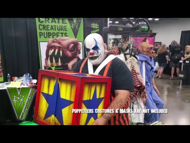 Jack in the box Lunging clown head prop