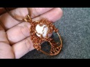 Pendant tree of life with moon - How to make wire jewelry 227