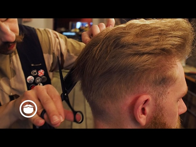High Volume Pompadour with Skin Fade   Cut and Grind