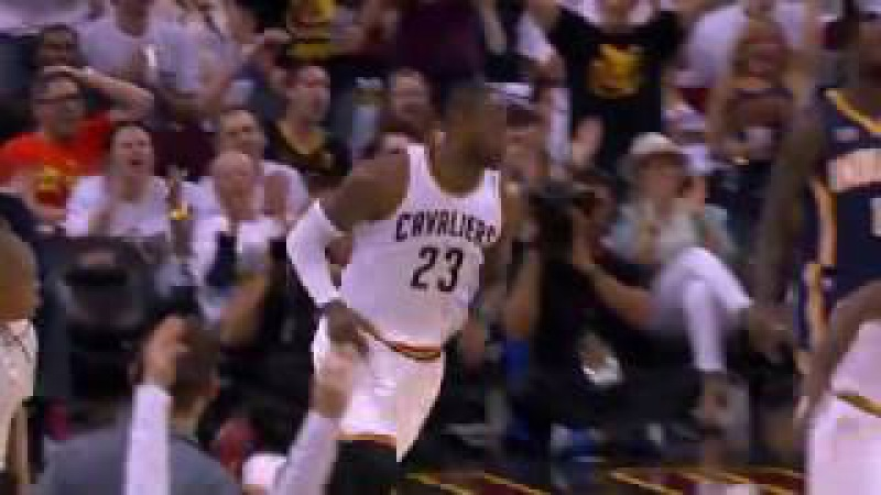 LeBron Skies for Reverse Alley-Oop Finish | April 15, 2017