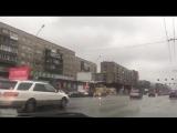 Автомобильный Крестный ход на Пасху по Красному проспекту в Новосибирске