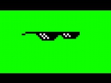 Пиксельные очки футаж