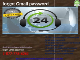 Gmail reset password:Getting smart with @1-877-776-6261