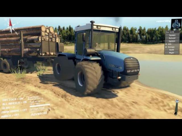 Видео обзор мода HTZ 17022 для игры Spintires (v03.03.16)