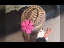 French braid with a lace braid wrap tutorial by Two Little Girls Hairstyles
