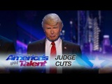 The Singing Trump: Bringing America Together with Backstreet Boys Medley - America's Got Talent 2017