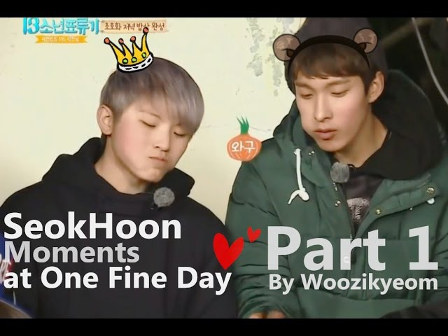 {SeokHoon} Woozi (우지) Dokyeom (도겸) Moments @One Fine Day Part 1
