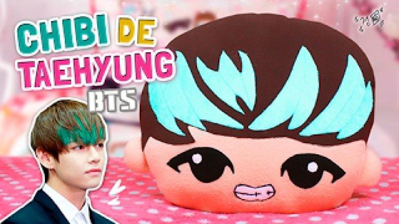 Haz tu PELUCHE CHIBI DE V (Taehyung) BTS ♡   Diy Kpop   Decora tu Habitación (FÁCIL)   Fabbi Lee
