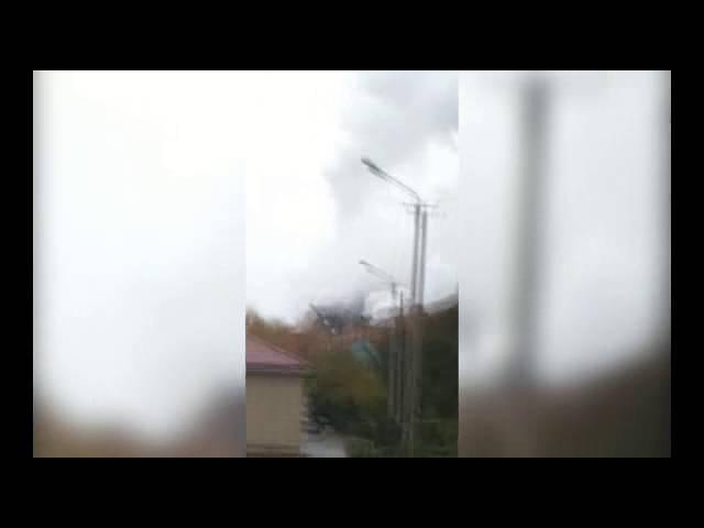 Клубы дыма около УК ТЭЦ