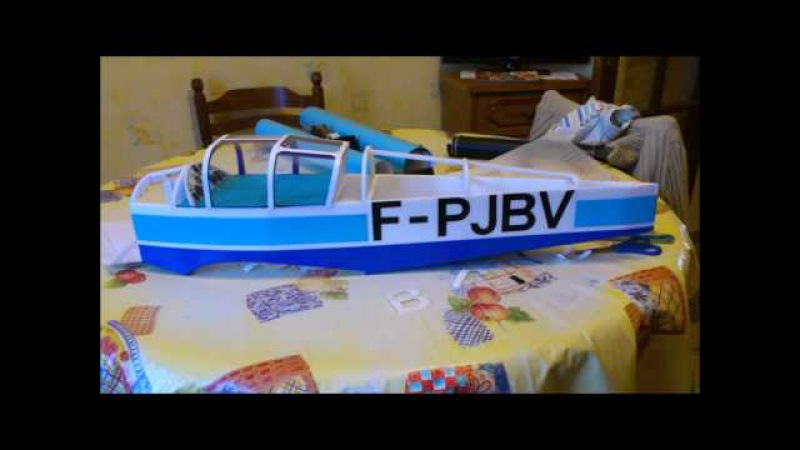 Construction du Jodel D-112 RC en depron
