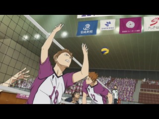 Haikyuu Season 3 Episode 4 English Sub Tsukishima Block Ushijima's Spike For The first time