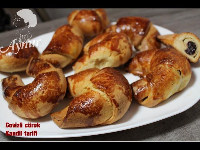 Cevizli cörek Tarifi Kadir gecesi icin Kandil tarifi- Saniye Anne yemekleri kanaliyla ortak calisma