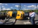 Жесть Очередное ДТП с участием Яндекс такси Москва/StasOnOff