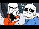 UNDERTALE - Весёлые Кости Анимация Funny Bones Animation Русский Дубляж