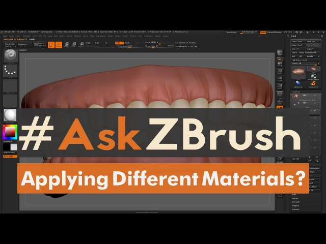 "AskZBrush: ""How can I apply different materials on the same SubTool?"""