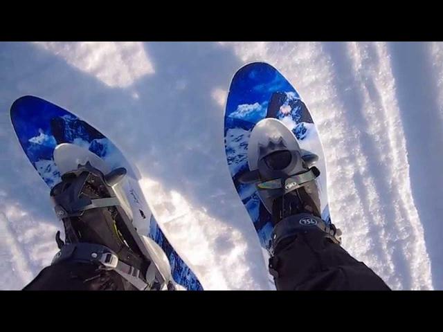 Тест снегоступов TSL 227 snowshoes