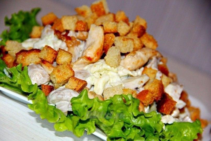 ТОП-6 МУЖСКИХ САЛАТОВ 1) Рыбный салат