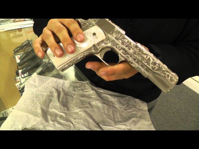 Completely Engraved Colt 1911 45 ACP