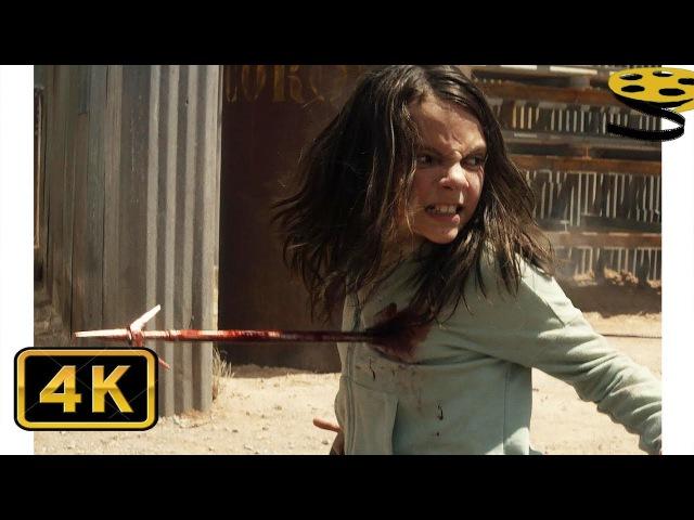Лаура и Логан против Наёмников Дональда Пирса | Логан (2017) | 4K ULTRA HD