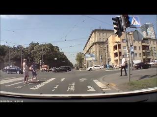 Редкие кадры с регистратора автомобиля. Аварии! / Rare footage from the car recorder. Crash!
