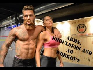 Janka Budimir - Ruke i ramena | AB workout with Daki Savic | Moj stomak nakon 2 treninga