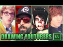 Drawing YouTubers LOGAN PAUL, KEEMSTAR, LEAFY, ONISION REALISM CHALLENGE