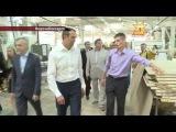 Визит Главы Чувашии на фабрику шпонированных дверей