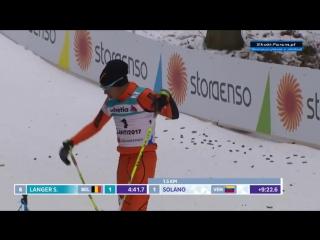 Неуклюжий лыжник из Венесуэлы покорил зрителей на чемпионате