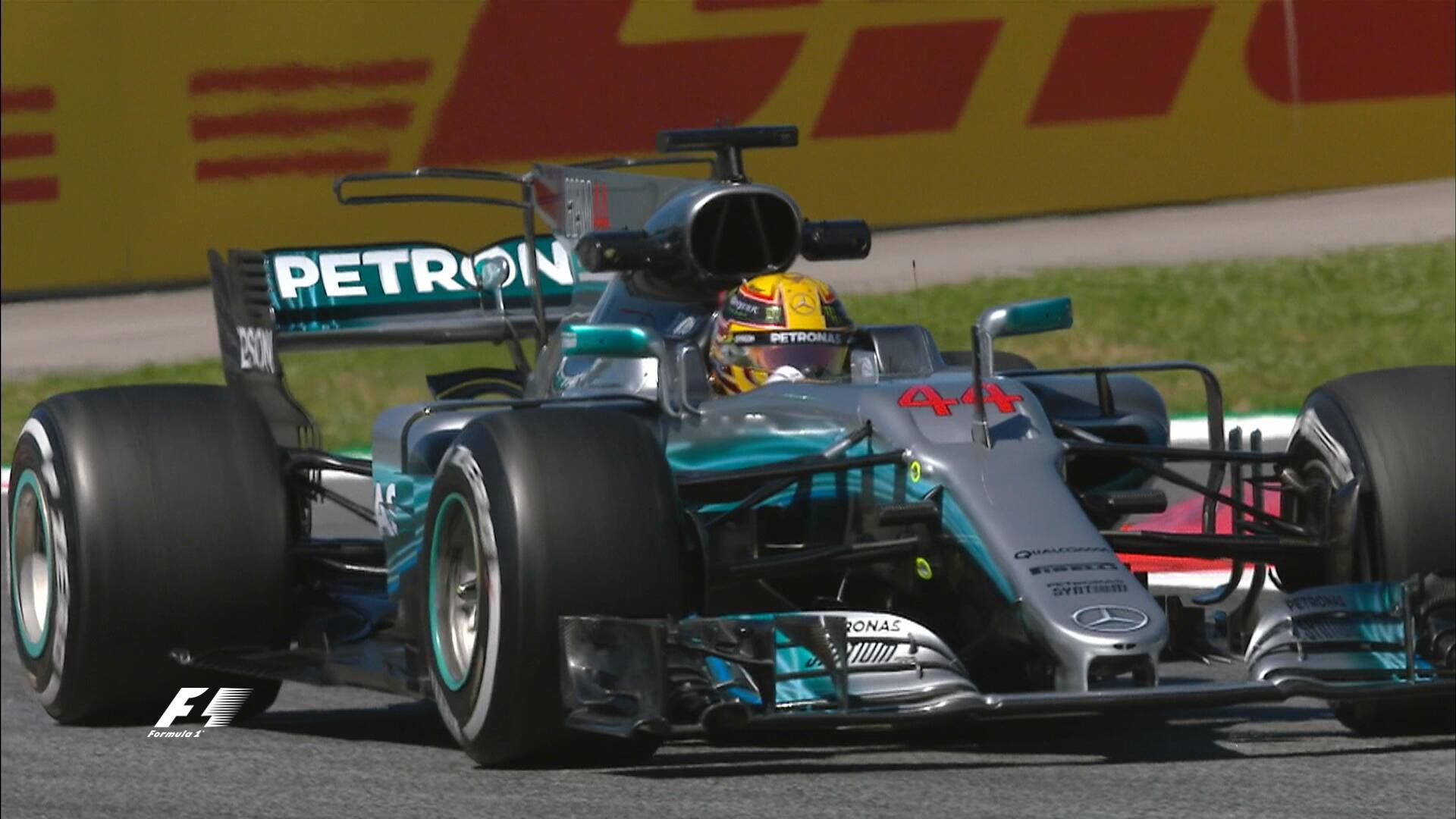 Хэмилтон продемонстрировал лучшее время во 2-ой тренировке Гран-при Испании