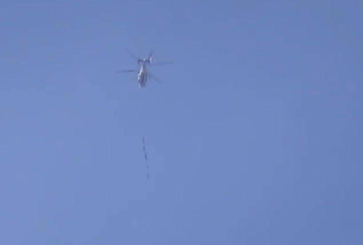 Вертолёты с Кузнецова успешно отбомбились по террористам