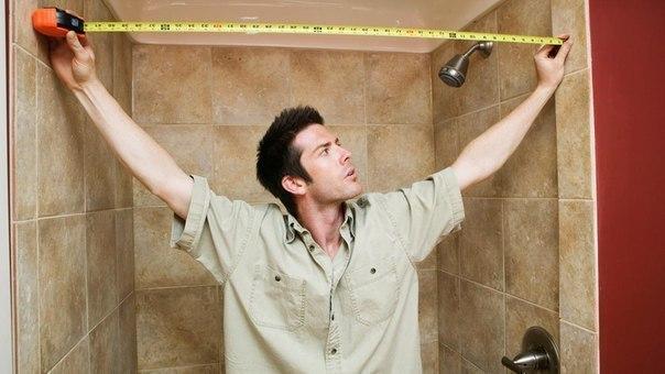 измеряем площадь стен и пола