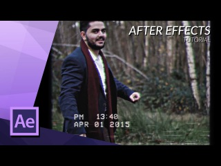 How To Create The Old VHS Video Look Overlay in After Effects Tutorial