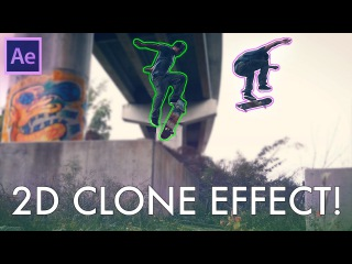 Adobe After Effects 2D FREEZE FRAME Clone Tutorial! (How to Motion Track + Rotoscope Cut Out)