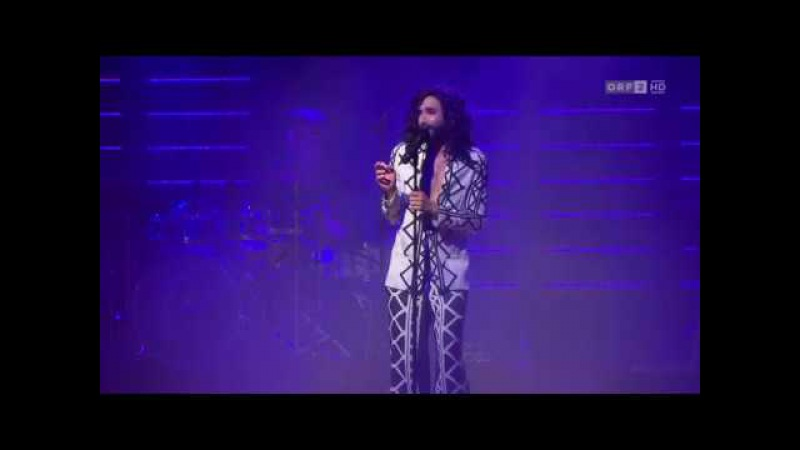 Conchita Wurst at the Ybbsiade festival - 31.03.2017 Ybbs, 'Seitenblicke, ORF'