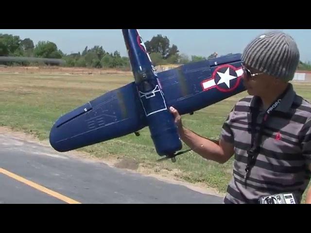 F4U Corsair Scale RTF 2.4GhZ Warbird Flight Review! RTF Package! bananahobby.com! Blitzrcworks!
