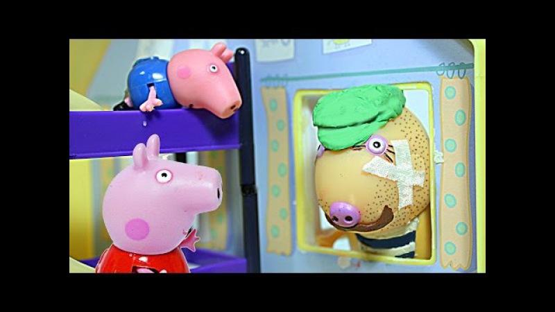 Свинка Пеппа Джордж Пеппа ГРАБИТЕЛИ И ЛИЗУНЫ Peppa Pig