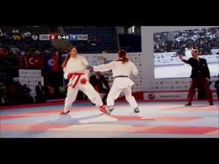 Meltem HOCAOGLU vs Masa MARTINOVIC. FINAL Female Kumite +68kg. European Karate Championships 2015