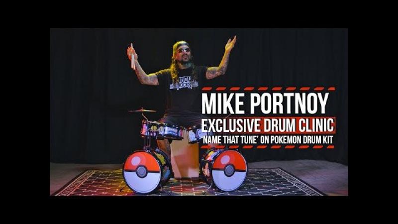 Mike Portnoy Name That Tune on Pokemon Drum Kit