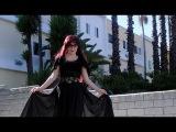 Black chiffon circle skirt. Ameynra Gothic fashion by Sofia Metal Queen