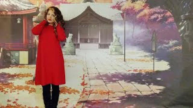 Вязаное красное платье ❤