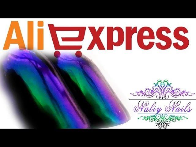 AliExpress ♕ 😍Пигмент Майский жук😍 Кисть с кристаллами и черные типсы!!😍