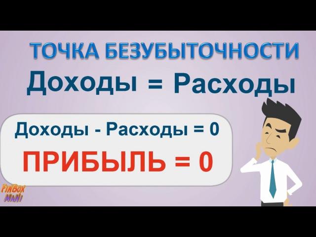 Пример расчета точки безубыточности формула