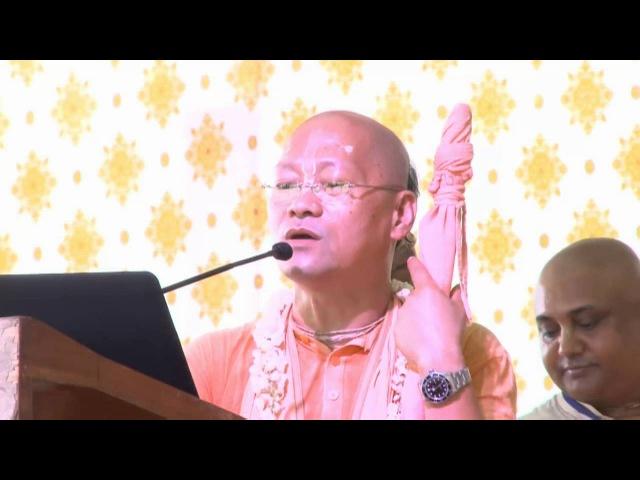Подношение Джанарданы Свами Гопал Кришне Госвами на Вьяса-пуджу 2016 г.