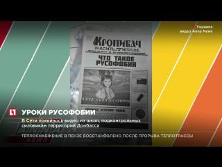 Уроки патриотизма в украинских школах проводят на фоне бандеровских флагов