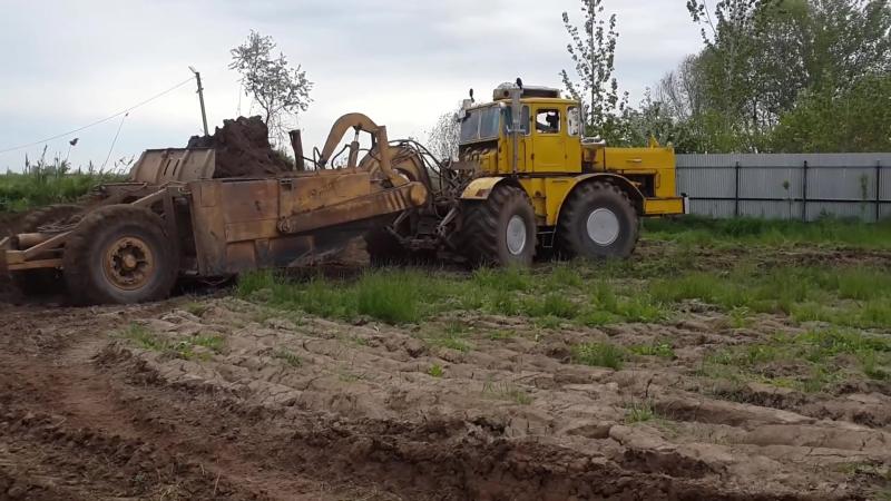 Кировец К 700 А 701 со скрепером