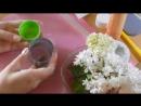 Мастер класс махровая сирень из холодного фарфора или полимерной глины