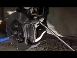 Nissan Murano Z51 замена передних тормозных колодок