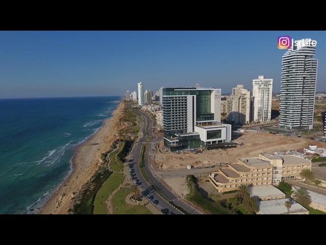 NETANIA - DJI PHANTOM 4 | Нетания с высоты птичьего полета | Жизнь в Израиле
