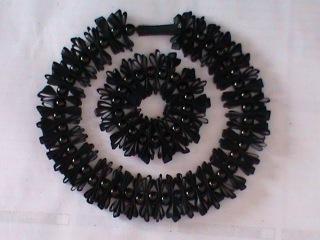 Чокер с браслетом из узкой ленты в стиле канзаши для девочек и девушек