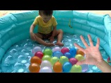 50 wet balloons for kids Learn colours Finger Family collection Kids studio